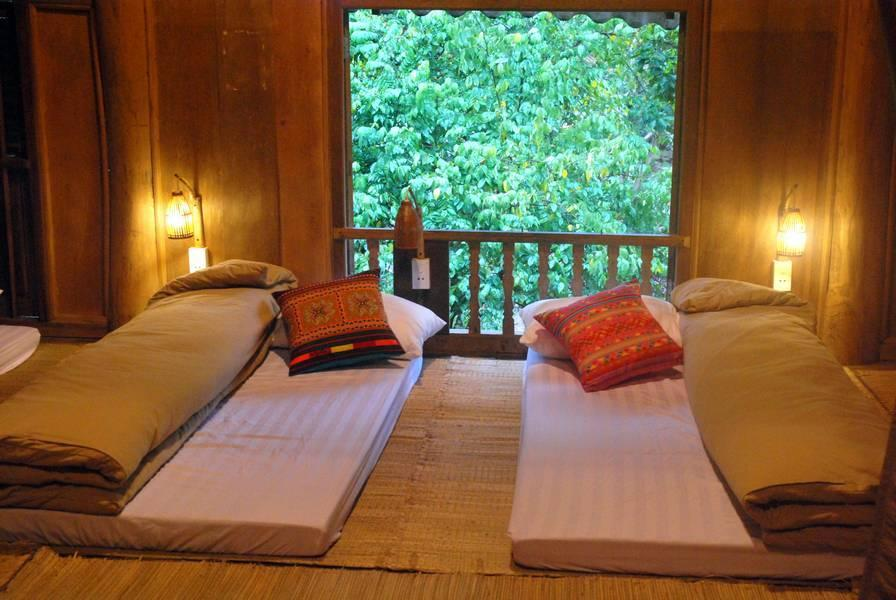 Like many other households in Da Bac, homestays are well set up for visitors