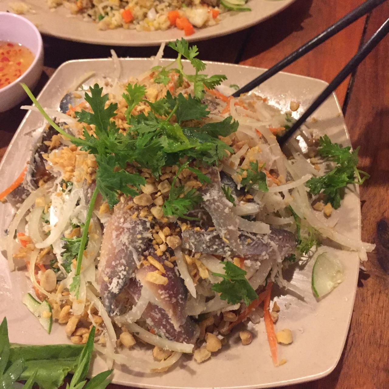 Raw herrige fish salad - Looks scary but taste yummy. Will you try it once?