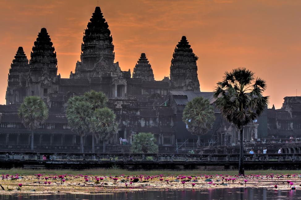 The Angkor at sunrise