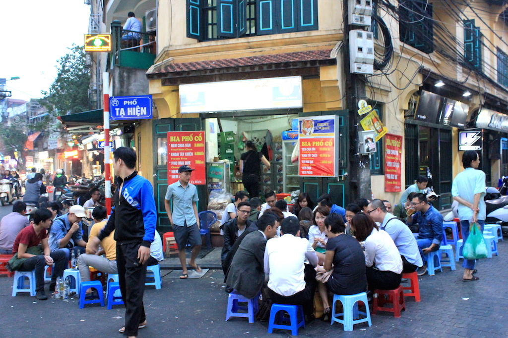 Discover Hanoi street food in the low chairs