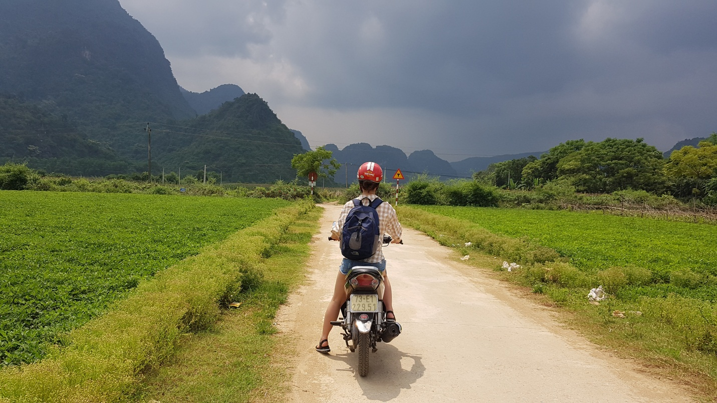 Riding a motorbike in Phong Nha is a great way to see countryside