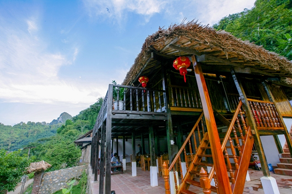 A typical homestay to serve tourists in Ba Be