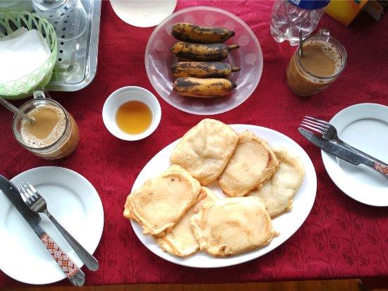 breakfast prepared by the friendly host