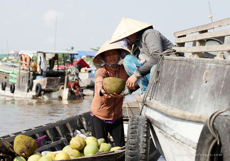 Get a glimpse into local life along the Mekong river