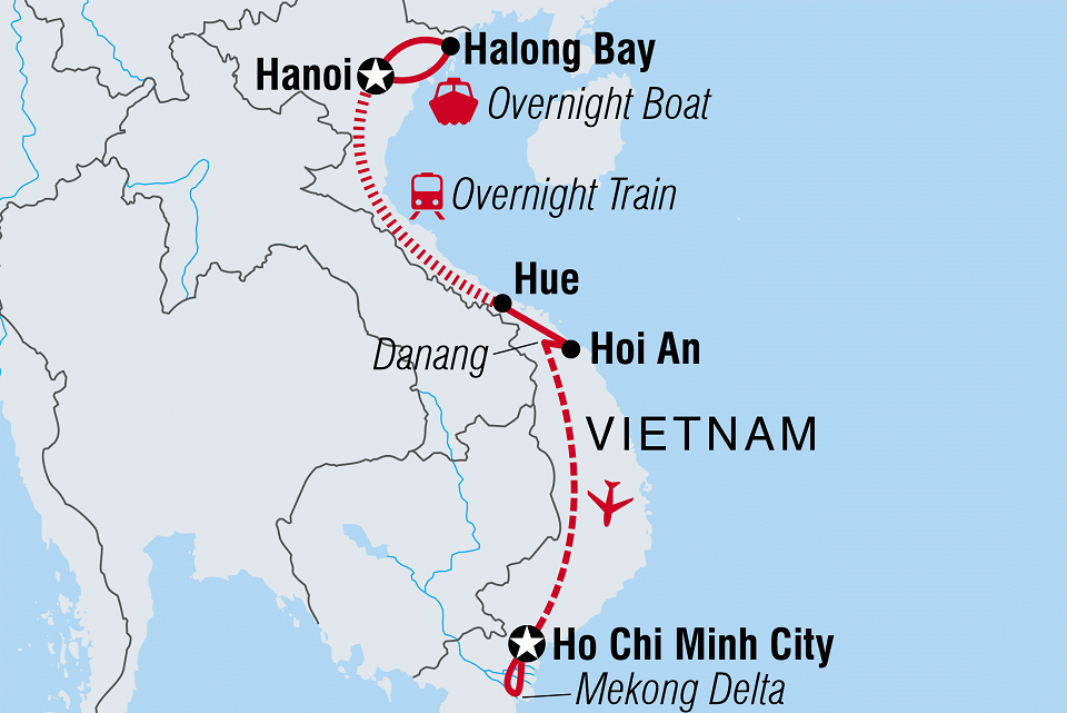 An overview of a Vietnam trip to famous destinations