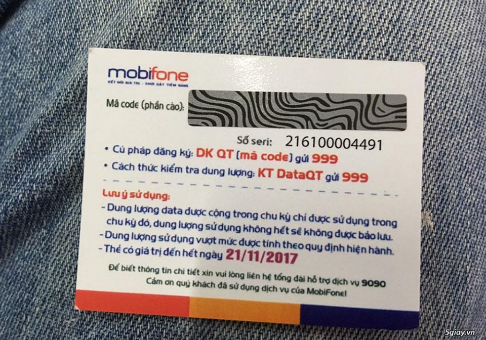 A top up card of Mobifone - Vietnam SIM card