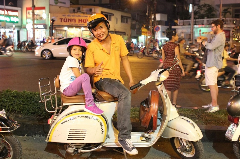 vietnam_family_tour_packages_Saigon_vespa