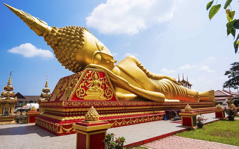 The reclining Buddha Statue