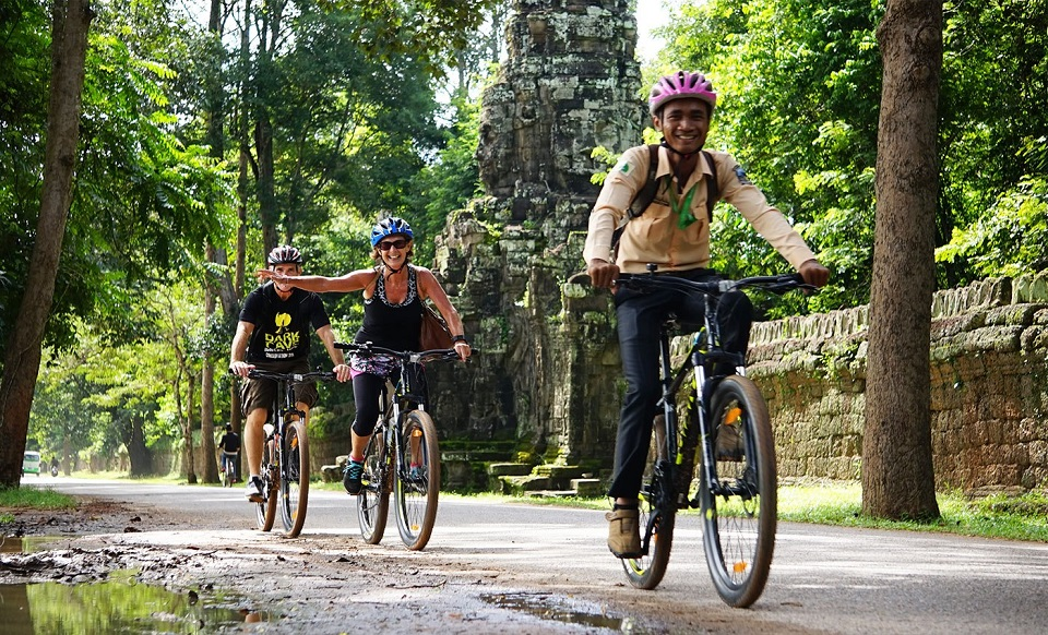 Cycling in Angkor Wat