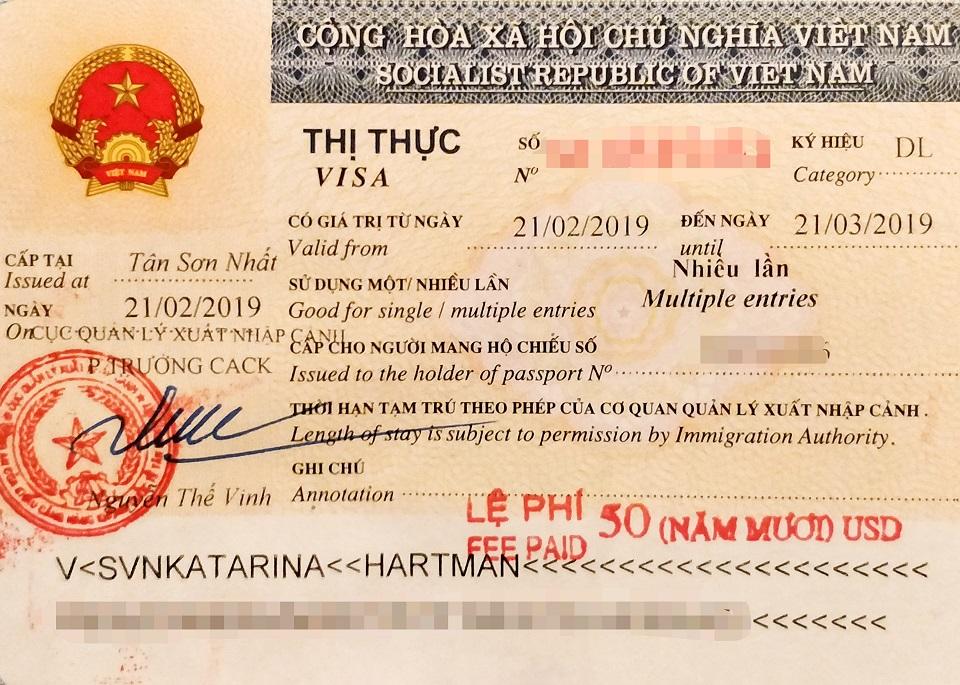 A multiple entry tourist visa