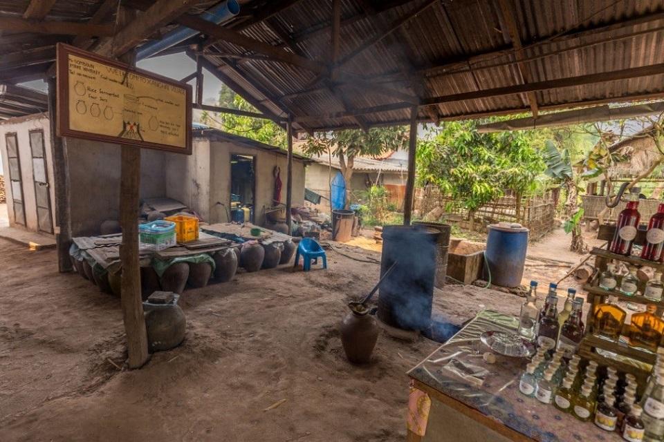 Wine production village