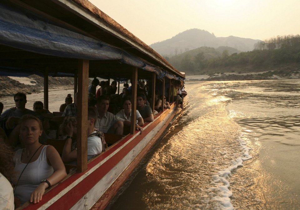 Boat trip on Mekong river