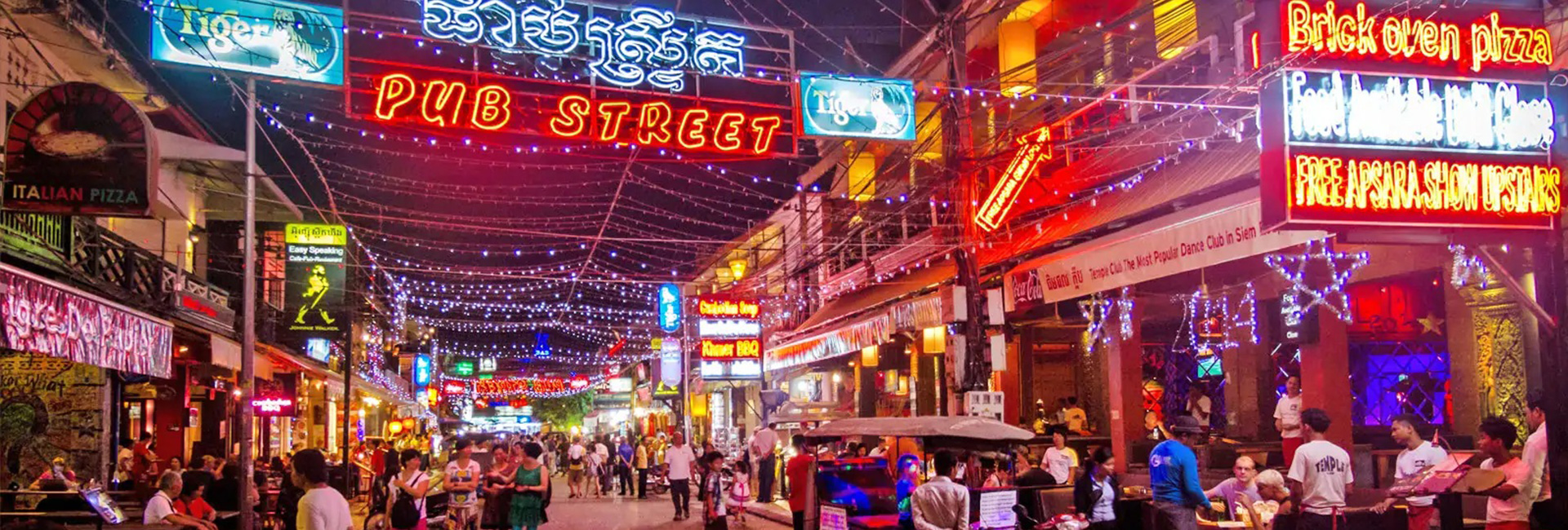 Pub Street in Siem Reap – The nightlife hub of the town