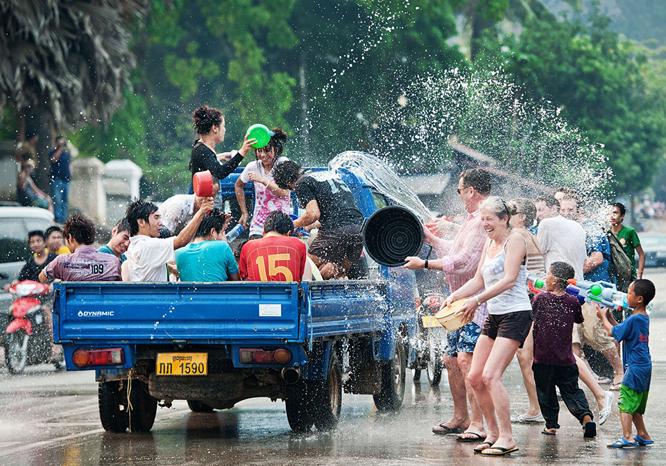 Songkran in Laos