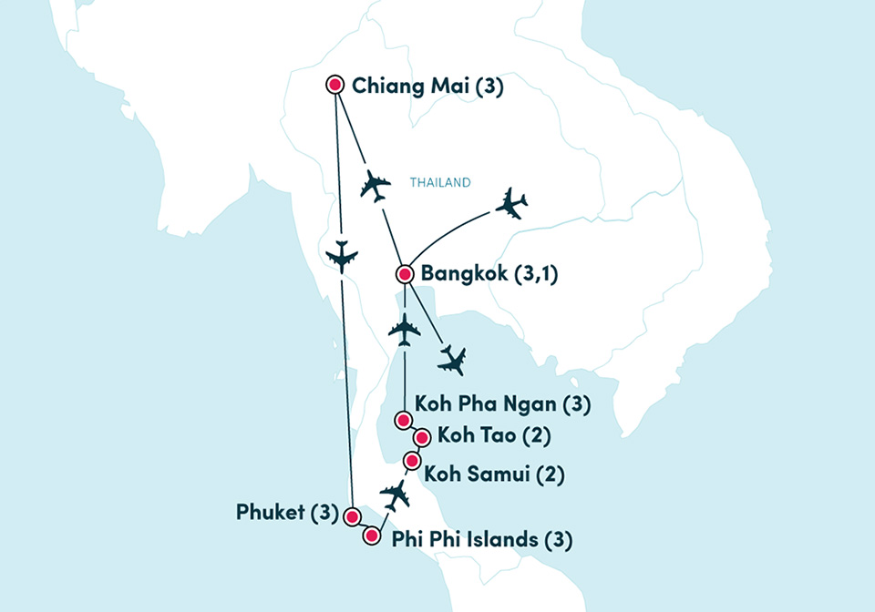 Direct flights from Chiang Mai to Phuket