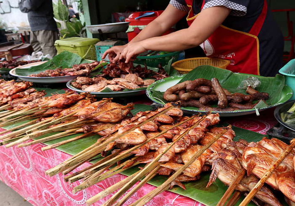 Barbecue stall on the street