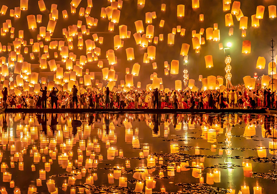 The lantern festival in Thailand
