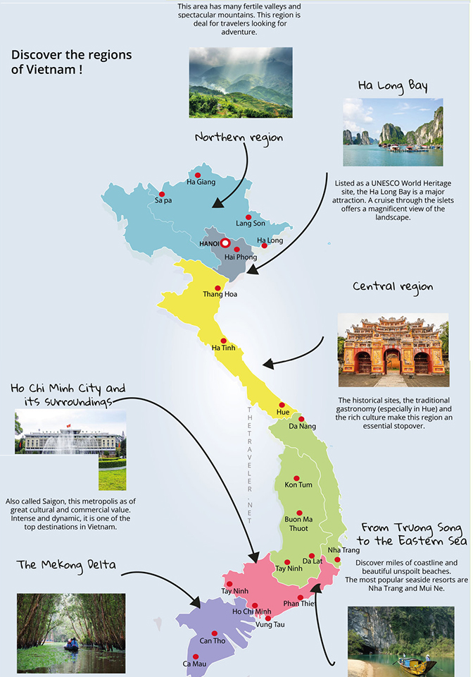 Discover the regions of Vietnam