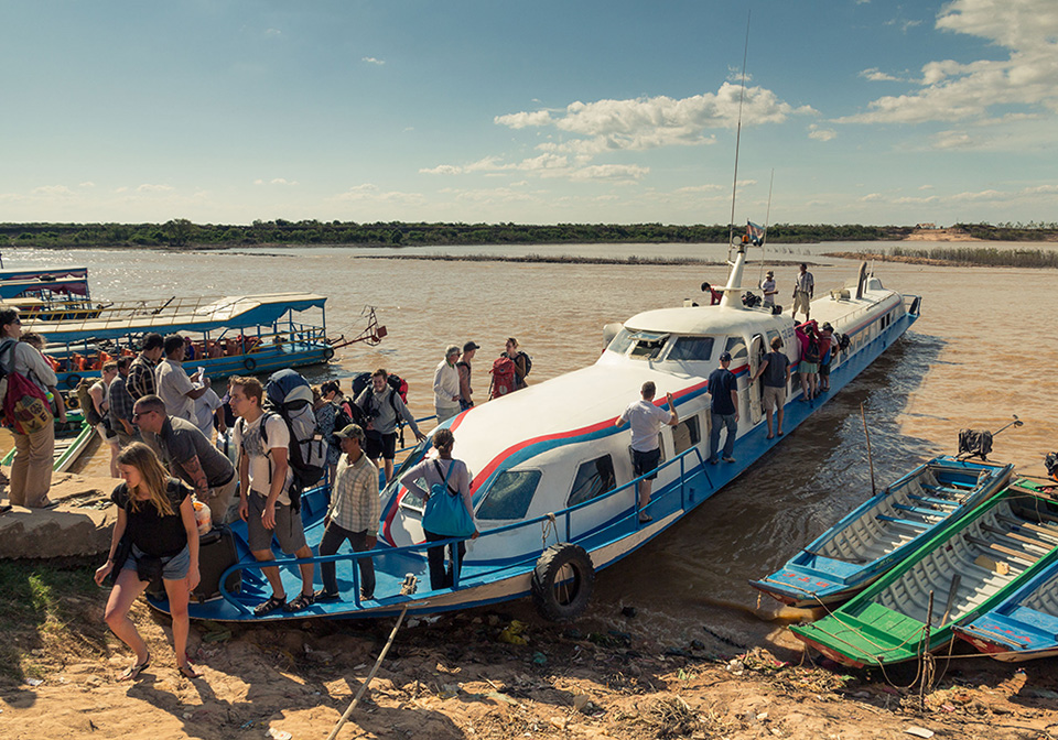 Ferry on Tonle Sap Lake